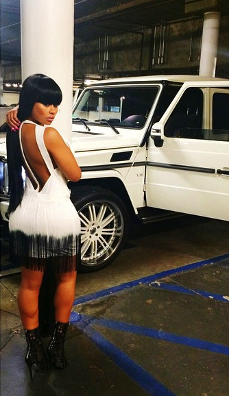 short n sweet clicks kylie is not dropping a song blac chyna pimps her ride lil wayne joins ig white mercedes benz g wagon - White G Wagon